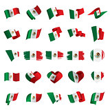 Mexican flag, vector illustration