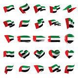 United Arab Emirates flag, vector illustration