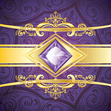 Decorative Background with Amethyst