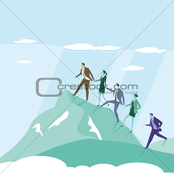 Business Successfully ascend illustration