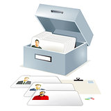 Database, file folder illustration