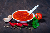red hot sweet chilli sauce