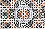 Detail of traditional moroccan mosaic wall, Morocco
