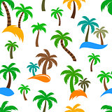 Vector palm trees seamless pattern