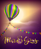 Balloon and decoration garland flag for Mardi Gras carnival Fat Tuesday