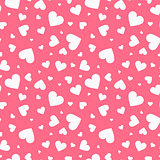 Seamless vector pattern with hearts. Happy valentines day beautiful background