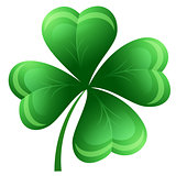 Isolated clover leaf