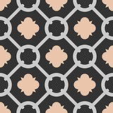 Tile black, pink and grey decorative floor tiles vector pattern