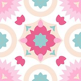 Tile pastel  decorative floor tiles vector pattern