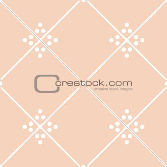 Tile pastel pink and white decorative floor tiles vector pattern