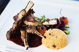 Grilled lamb carre