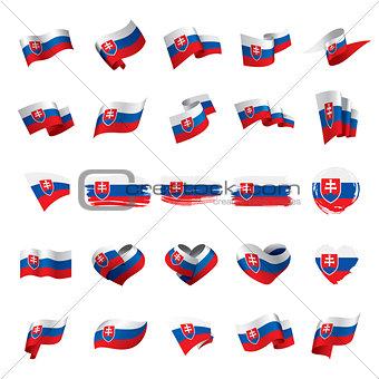 Slovakia flag, vector illustration