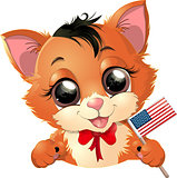 Happy Presidents Day kitten