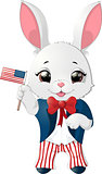 Happy Presidents Day rabbit