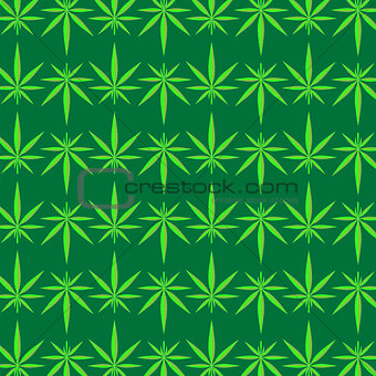 Green Marijuana Pattern