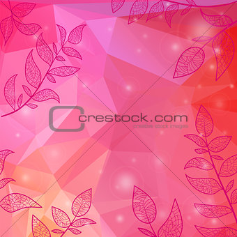 background with branches and leaves
