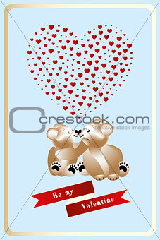 14 February Heart work with teddies in love