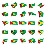 Guyana flag, vector illustration