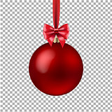 Red Xmas Ball Isolated