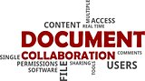 word cloud - document collaboration