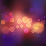Violet blurred background with lights and bokeh