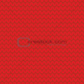 Tile red knitting vector pattern or winter background