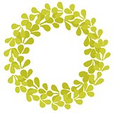 Laurel wreath decorative vector frame isolated on white background