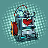 bioprinter prints love heart 3D printer manufacturing