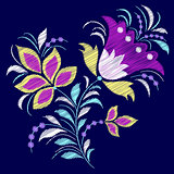 Embroidered abstract flower