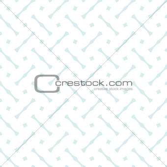 Tile vector pattern with blue print on white background