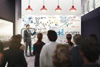 Business analysis in an office. 3D Rendering