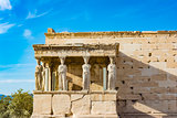 The Porch of the Caryatids at the Erechtheion temple on the Acropolis, Athens, Greece