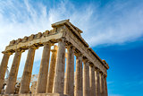 Parthenon temple in Acropolis of Athens, Greece