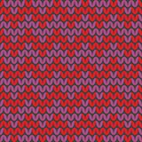 Tile zig zag knitting vector pattern