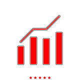 Growth chart it is icon .