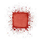Red watercolor square