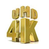 Ultra HD (high definition) resolution technology. 4K concept. 3D
