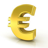 Euro 3D golden sign