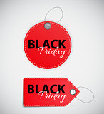 Black Friday Sale Label Vector Illustration