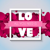 Valentine's Day Heart  Love and Feelings Background Design. Vector illustration