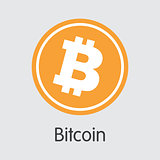 Bitcoin - Cryptocurrency Logo.