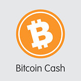 Bitcoin Cash - Icon of Virtual Currency.