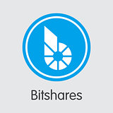 Bitshares - Cryptocurrency Logo.