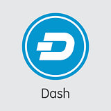 Dash Coin - Cryptocurrency Logo.