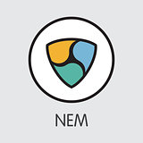 Neweconomymovement NEM - Cryptocurrency Logo.