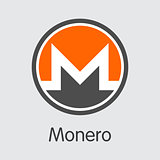 Monero - Cryptocurrency Logo.
