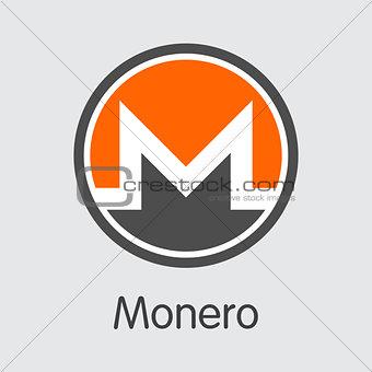 Monero - Cryptocurrency Logo.