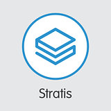 Stratis - Cryptocurrency Logo.