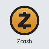 Zcash - Vector Icon of Virtual Currency.