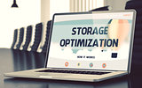 Storage Optimization Concept on Laptop Screen. 3D.